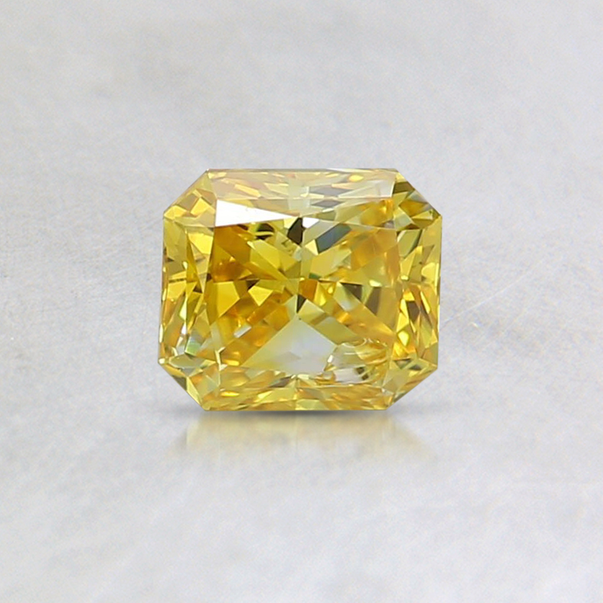 0.49 Ct. Fancy Vivid Yellow Emerald Lab Created Diamond