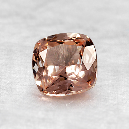 5.5mm Cushion Light Peach Sapphire, top view