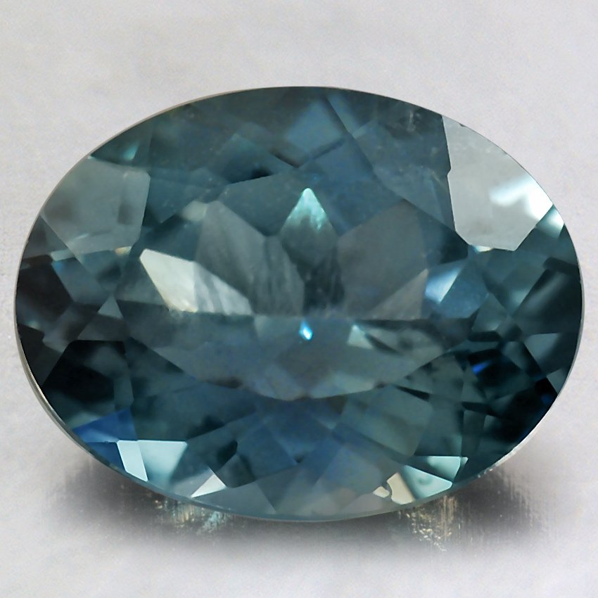 8.7x6.7mm Premium Malawi Teal Oval Sapphire, top view
