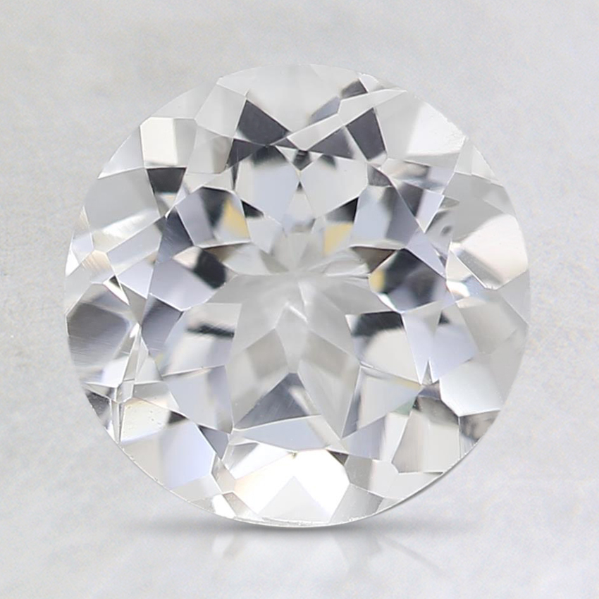 8mm White Round Topaz