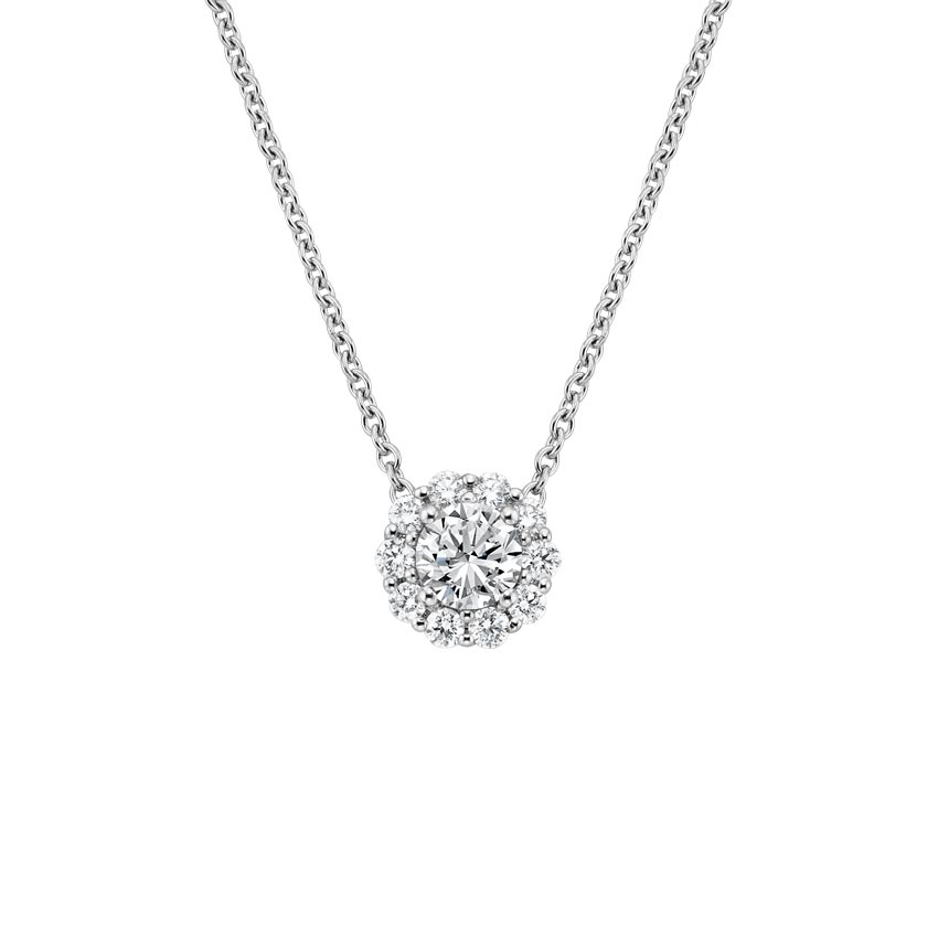 Lotus Flower Diamond Necklace