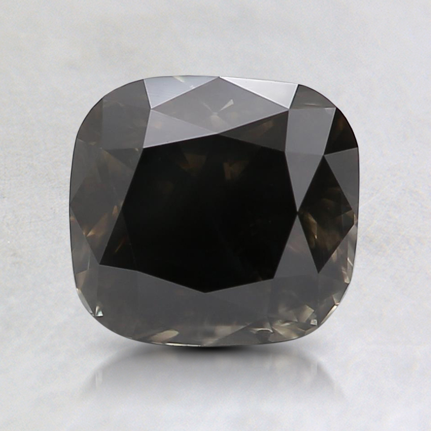 1.91 Ct. Fancy Black Cushion Colored Diamond