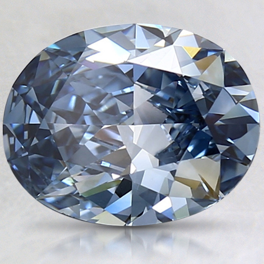 2.05 Ct. Fancy Vivid Blue Oval Lab Created Diamond