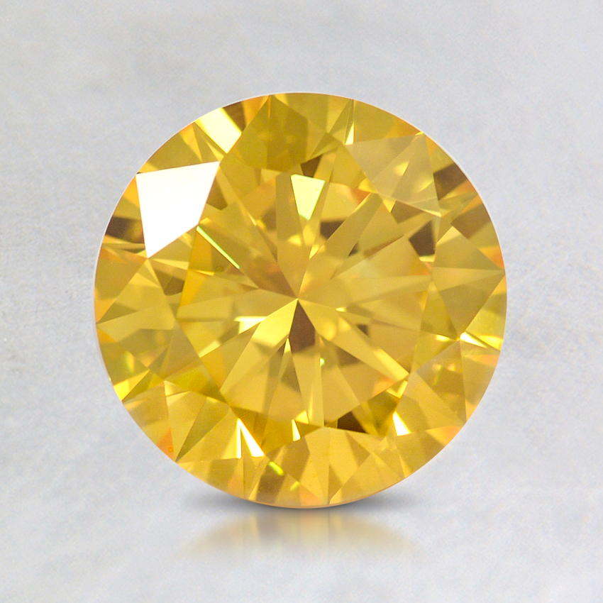 1.70 ct. Lab Created Fancy Vivid Yellow Round Diamond
