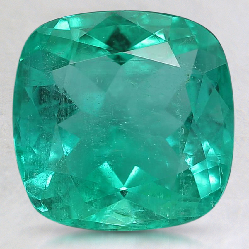 9.1x9mm Cushion Emerald