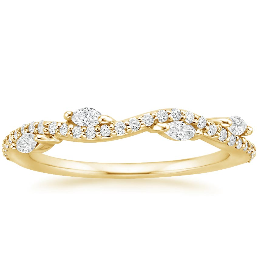 Yellow Gold Luxe Winding Willow Diamond Ring (1/4 ct. tw.)