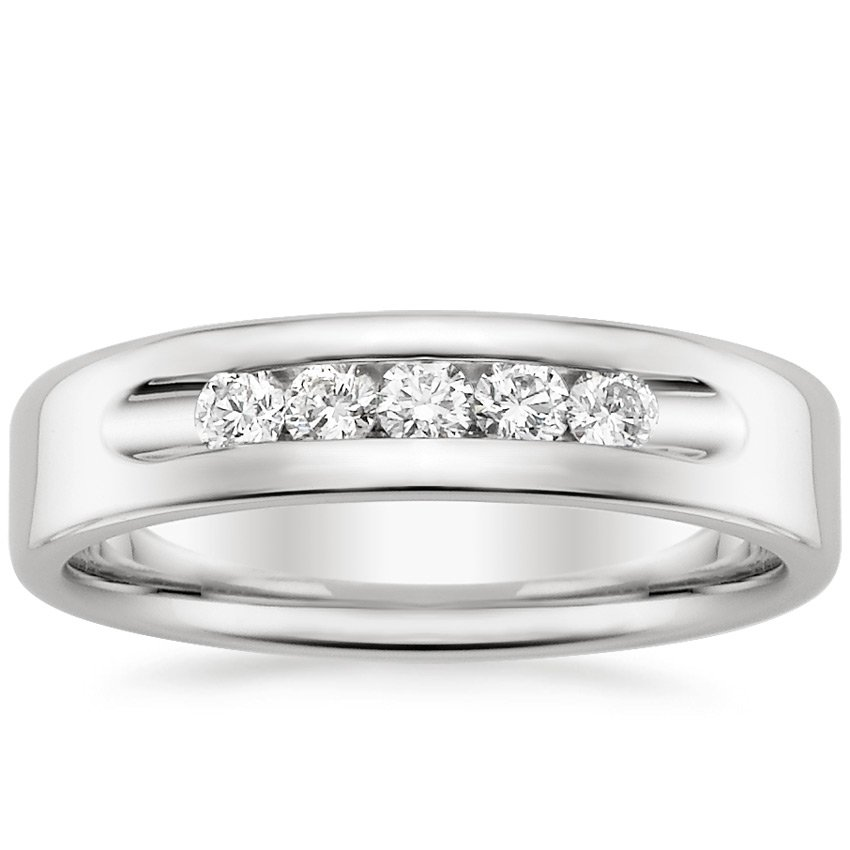18K White Gold Denali Ring (1/3 ct. tw.), top view