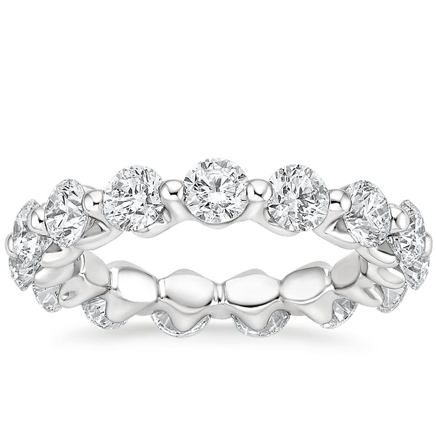 Luxe Single Shared Prong Eternity Ring