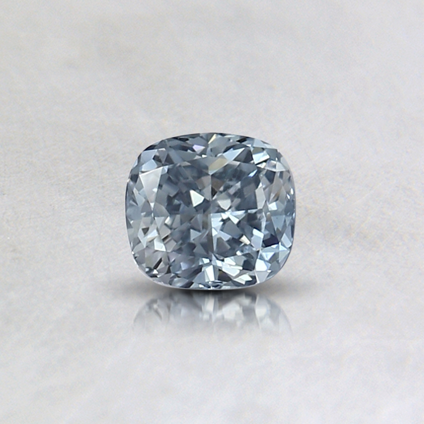0.32 Ct. Fancy Light Blue Cushion Lab Created Diamond
