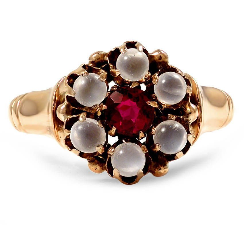Victorian Garnet Cocktail Ring