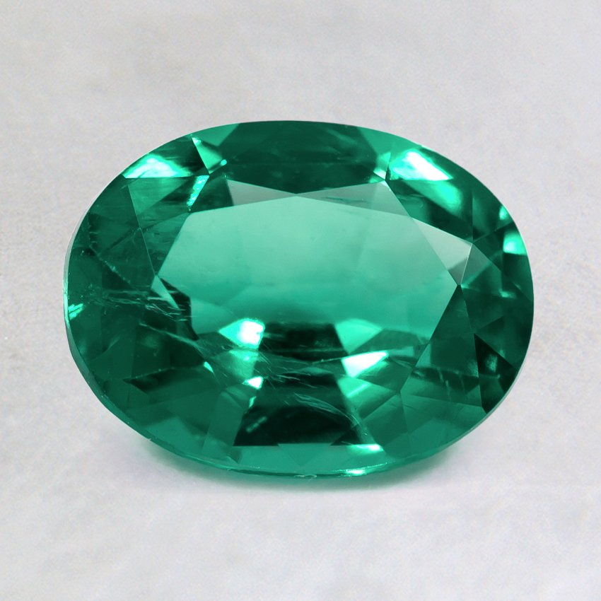 8x6mm Super Premium Oval Emerald, top view