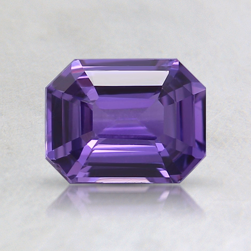 6.6x5.1mm Unheated Purple Emerald Sapphire