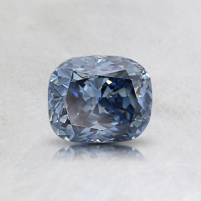 0.60 ct. Lab Created Fancy Vivid Blue Cushion Diamond