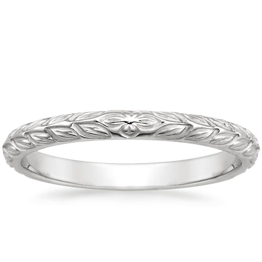 18K White Gold Garland Ring, top view