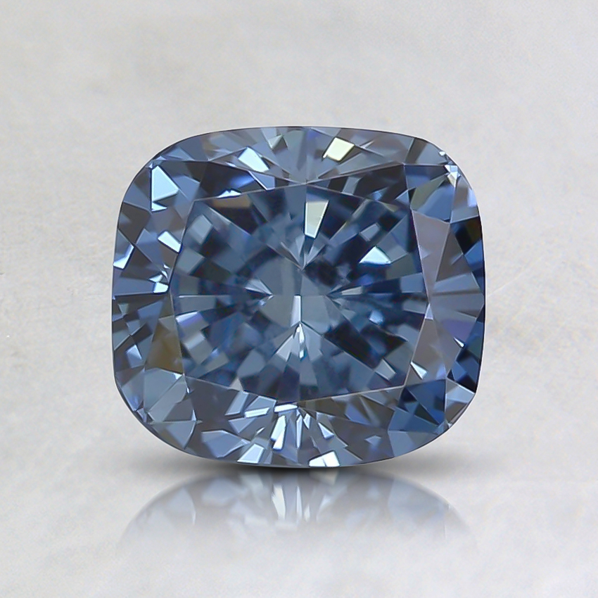 1.26 Ct. Fancy Deep Blue Cushion Lab Created Diamond