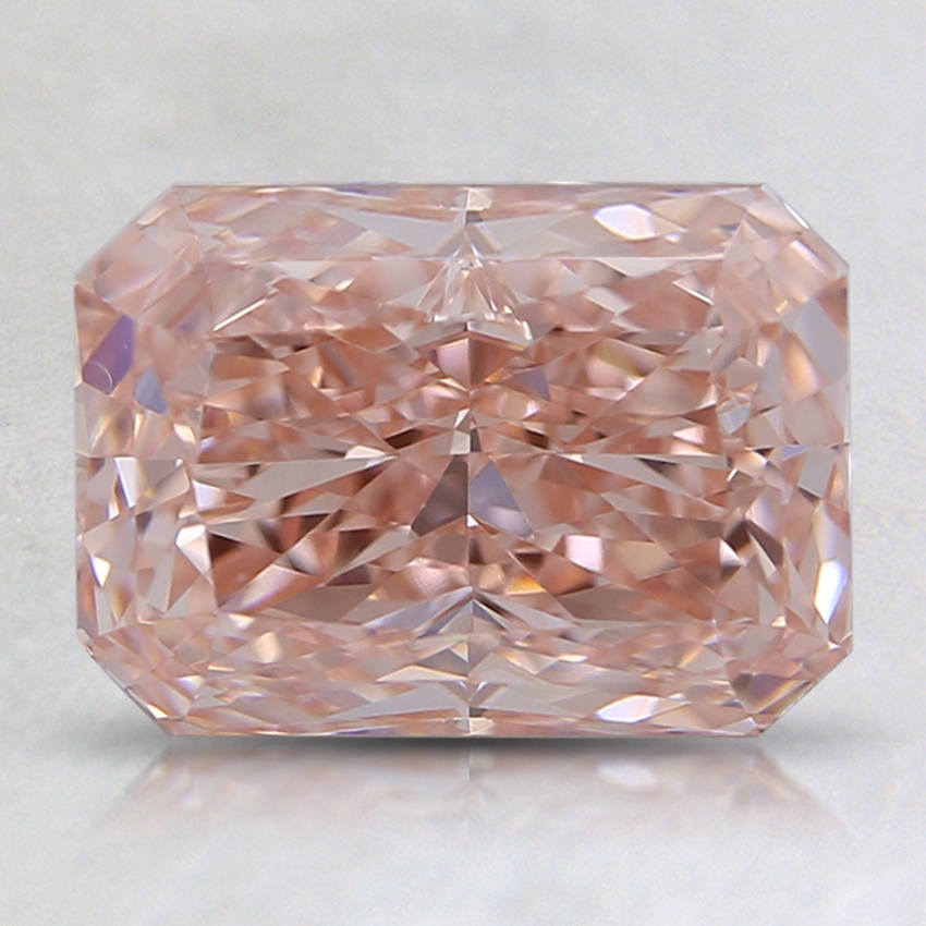 2.02 Ct. Fancy Pink Radiant Lab Created Diamond