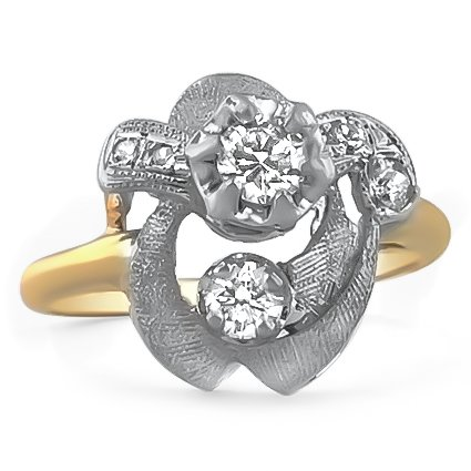 The Jenelle Ring, top view