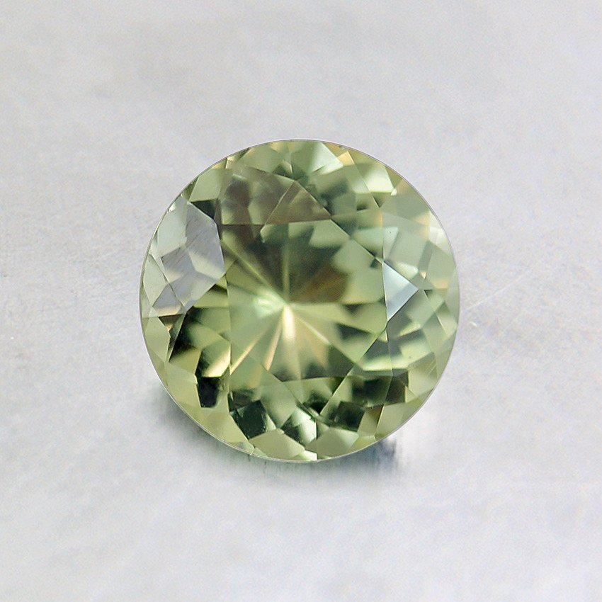 5.5mm Green Round Sapphire, top view