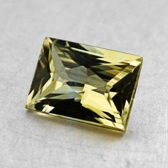 7.4x5.4mm Yellow Princess Sapphire, top view