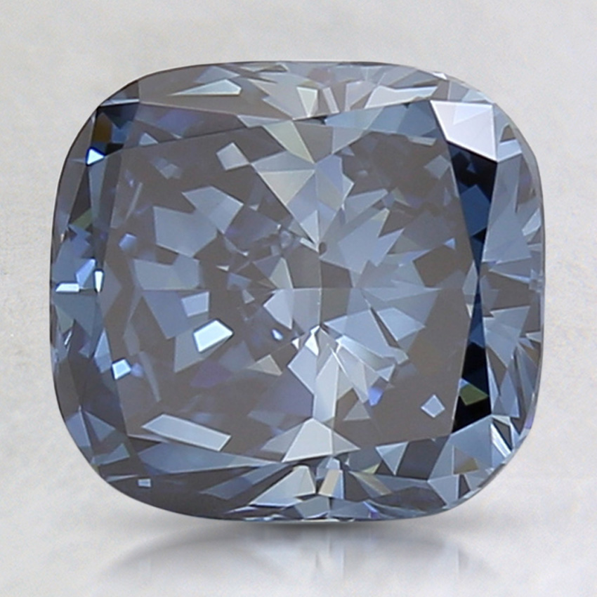 2.54 Ct. Fancy Deep Blue Cushion Lab Created Diamond