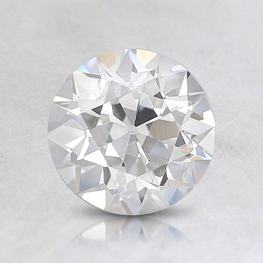 0.81 Carat, F Color, VVS2 Clarity, Round Old European Cut Diamond