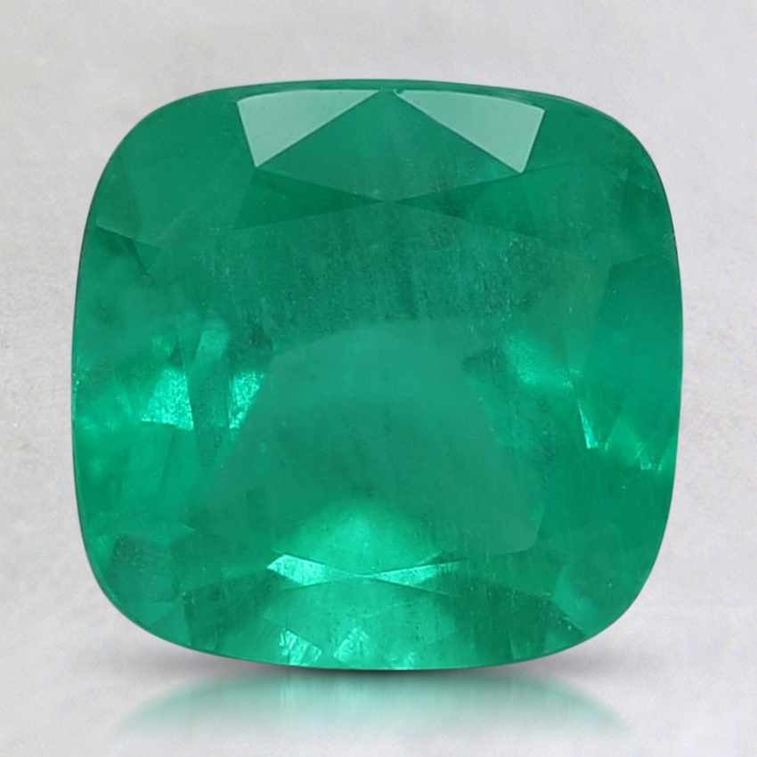 8.1mm Premium Cushion Emerald