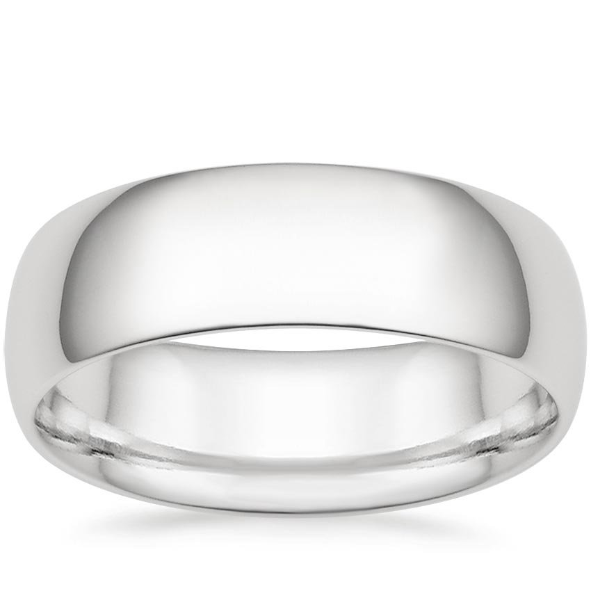 7mm Comfort Fit Wedding Ring in Platinum