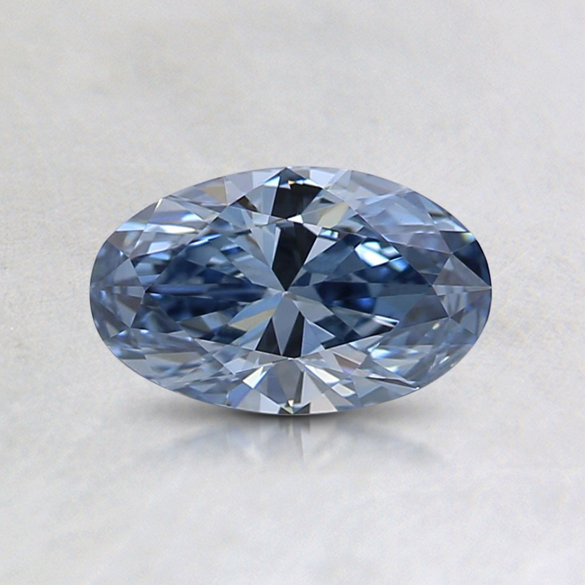 0.51 Ct. Fancy Intense Blue Oval Lab Created Diamond