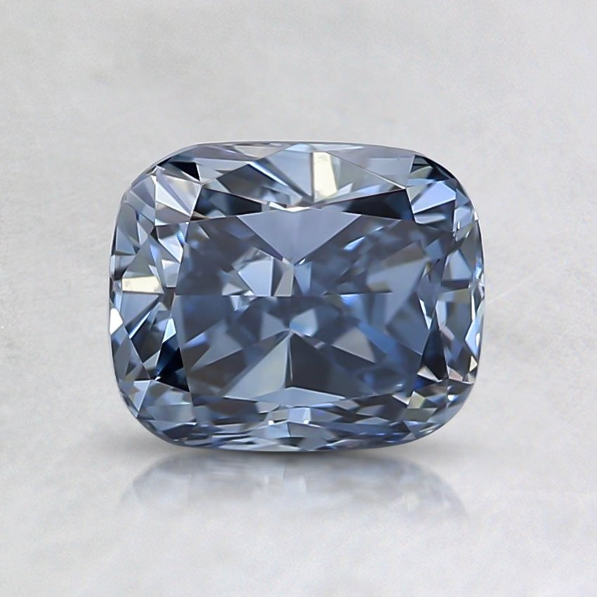 1.00 Ct. Fancy Intense Blue Cushion Lab Created Diamond