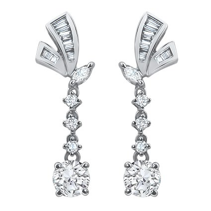 The Lorraine Earrings, top view