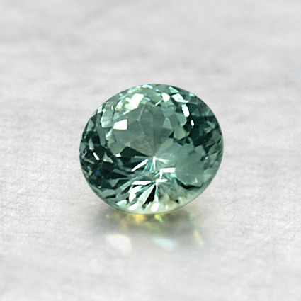 5.0mm Light Green Round Sapphire, top view