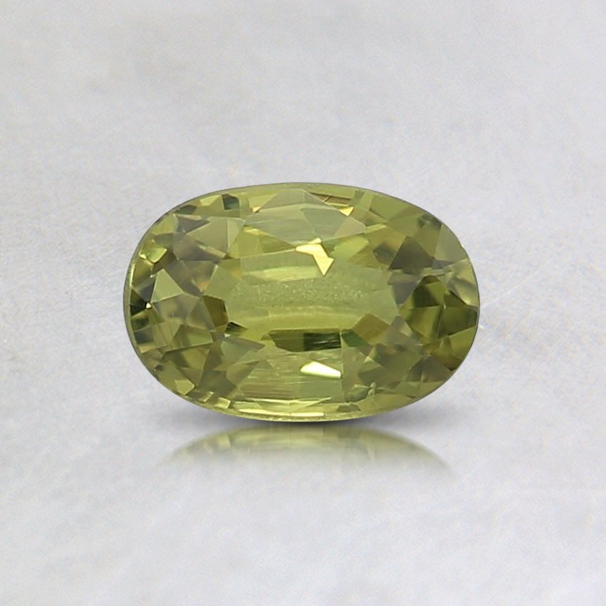 6x4mm Yellow Oval Sapphire, top view