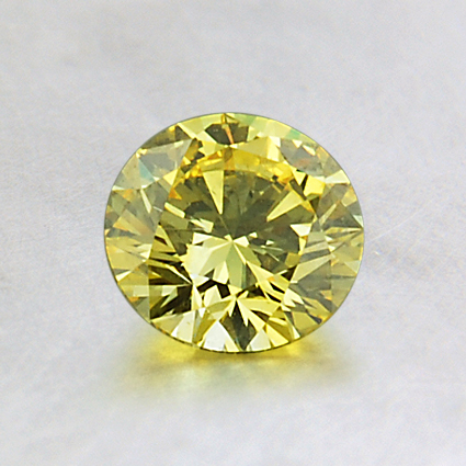5.91mm Lab Created Yellow Round Diamond