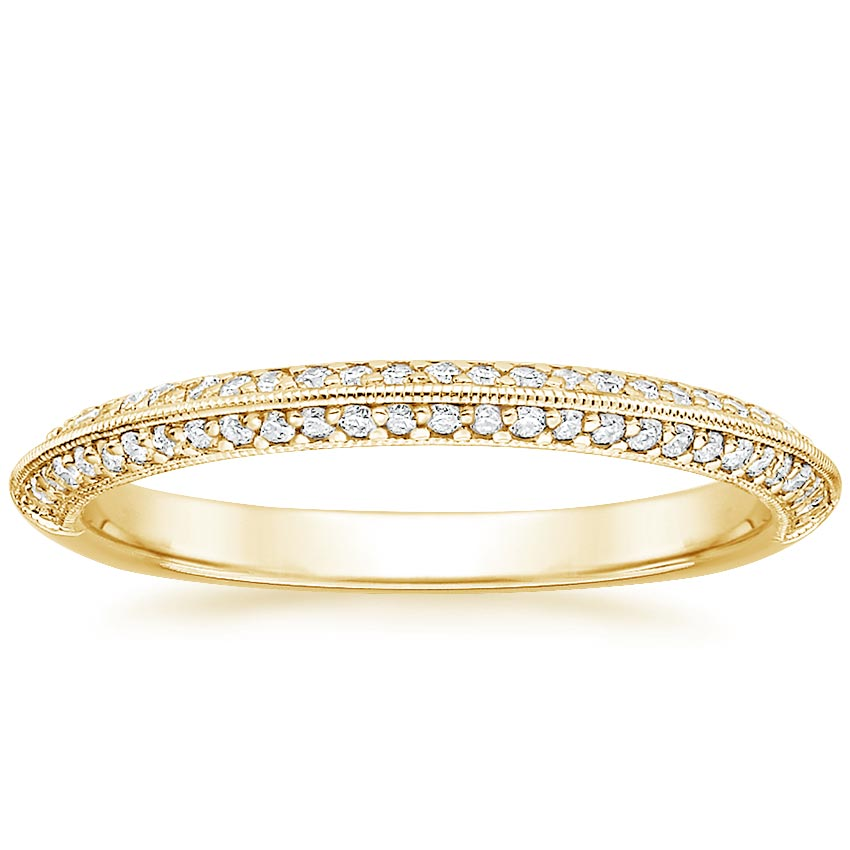 Yellow Gold Knife Edge Wedding Band