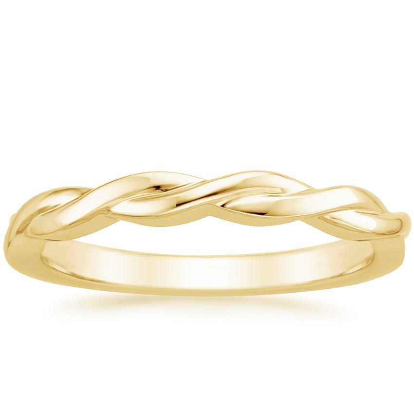 Yellow Gold Twisted Vine Ring