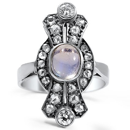 Art Deco Moonstone Cocktail Ring