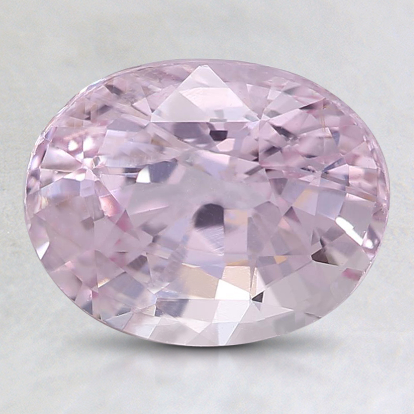9x7.1mm Unheated Pink Oval Sapphire