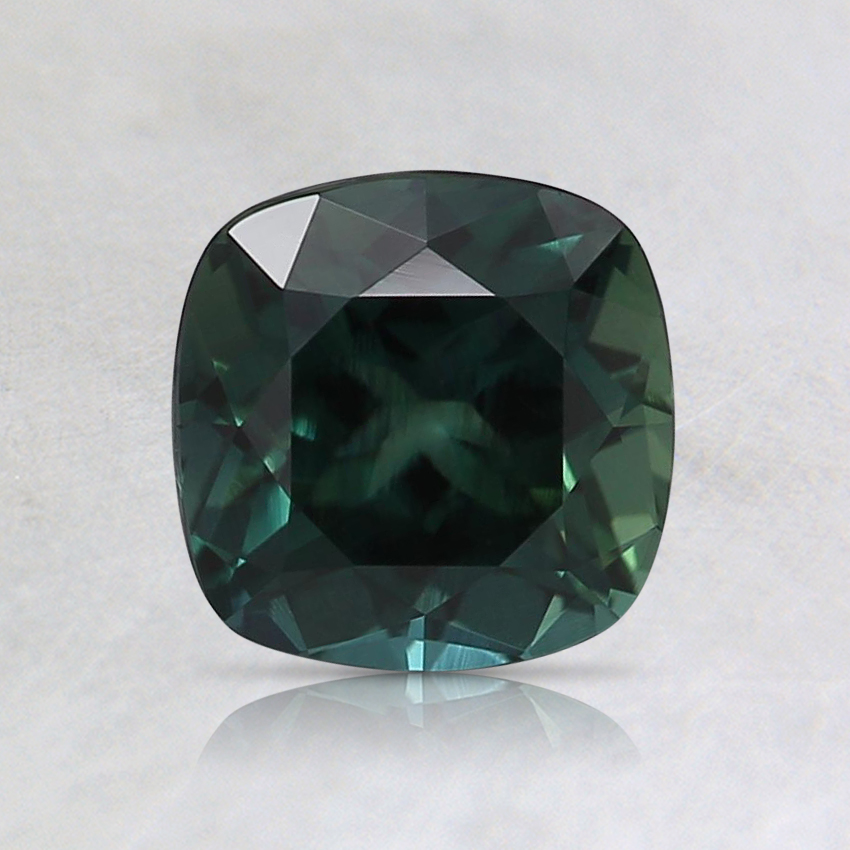 6mm Unheated Teal Cushion Sapphire