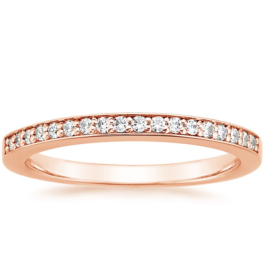 14K Rose Gold Starlight Diamond Ring, top view