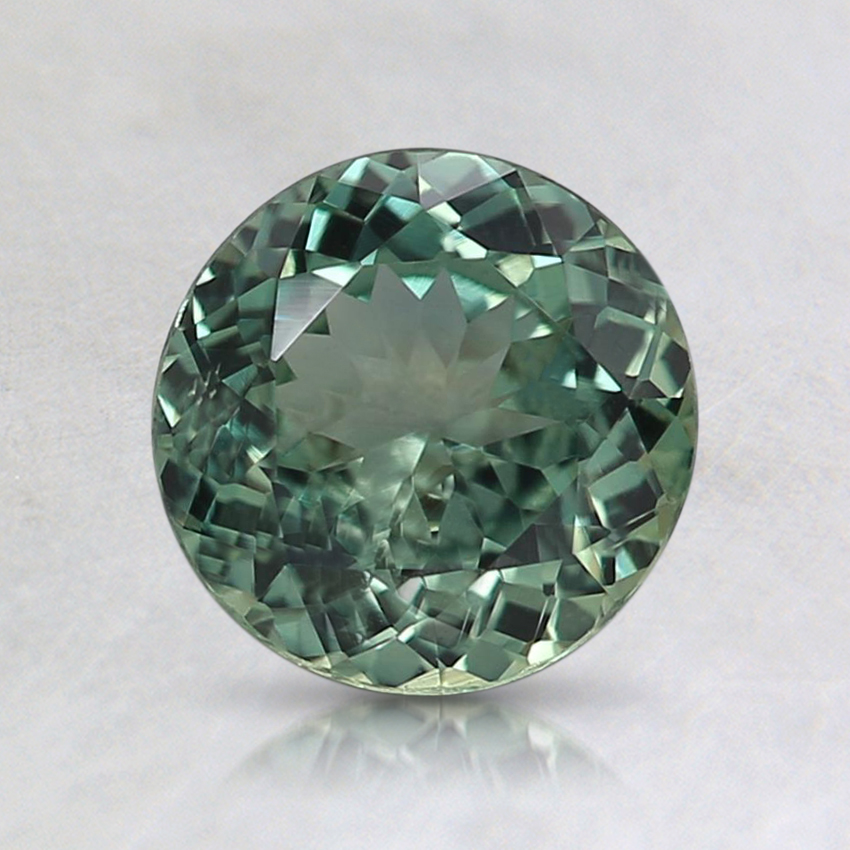 6.6mm Unheated Teal Round Montana Sapphire