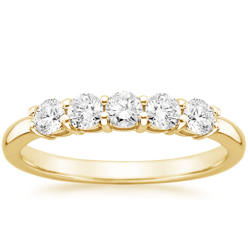 Yellow Gold Classic Five Stone Diamond Ring (1/2 ct. tw.)