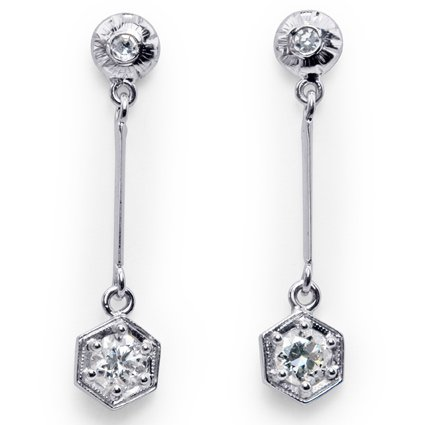 The Belle Earrings, top view
