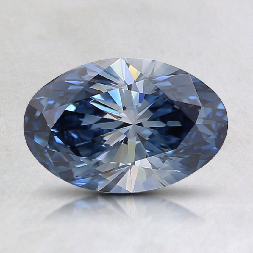 0.96 Ct. Fancy Blue Oval Lab Created Diamond