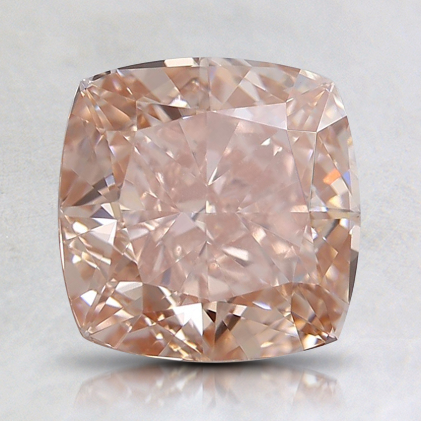 2.05 Ct. Fancy Orangy Pink Cushion Lab Created Diamond