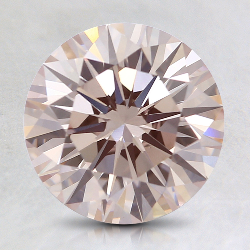 2.07 Ct. Light Pink Round Lab Created Diamond