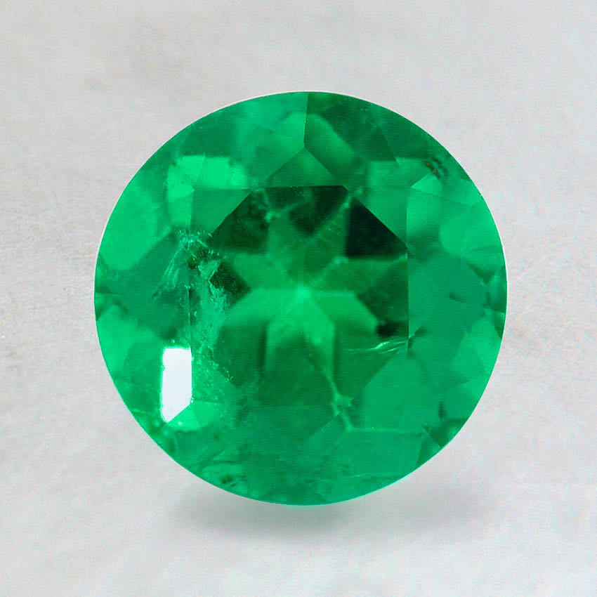 7mm Premium Intense Green Round Emerald