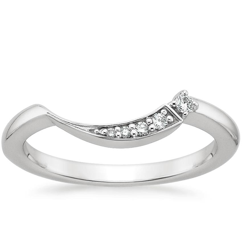 18K White Gold Iris Diamond Ring, top view