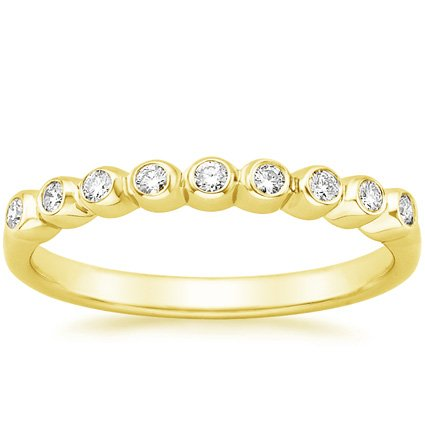 18K Yellow Gold Eclipse Diamond Ring, top view