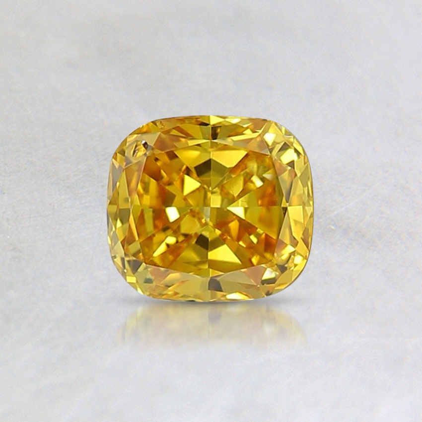 0.47 Ct. Fancy Vivid Yellow Cushion Lab Created Diamond