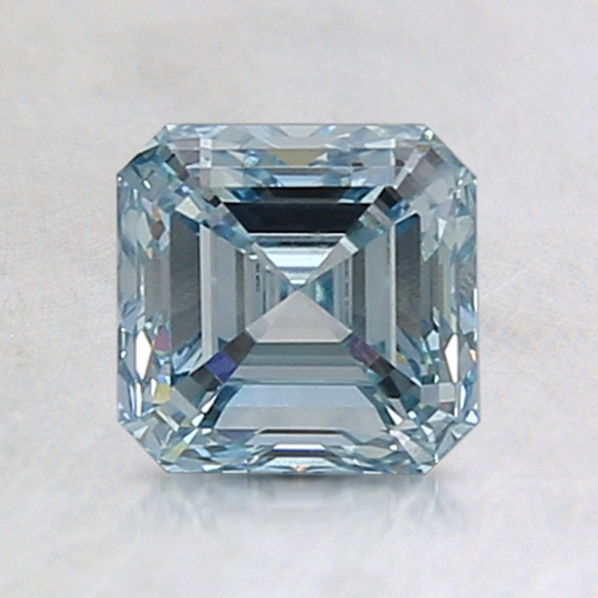 1.51 Ct. Fancy Greenish Blue Asscher Lab Created Diamond
